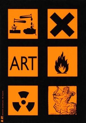 LASZLO Jean-Noël Sans titre, 1999 Sérigraphie par Alain Buyse affiche n°64 53x38 cm