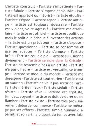 NADAUD Daniel Sans titre, 2002 Sérigraphie par Alain Buyse affiche n°94 53x38 cm