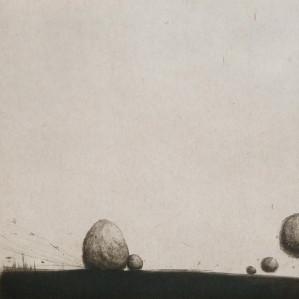 DE LEON LUCERO Ximena - En brazos de la noche, 2012 gravure, 30x30 cm
