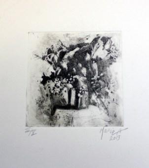 AHMADI-EMDADIAN Maria, Nature Morte, 2013, eau forte et aquatinte, 21x18,5 cm