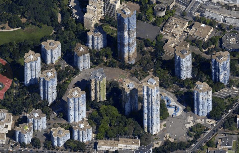 Les tours nuages à Nanterre (cité Pablo Picasso)