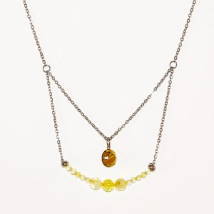 Collier - pierre naturelle-citrine