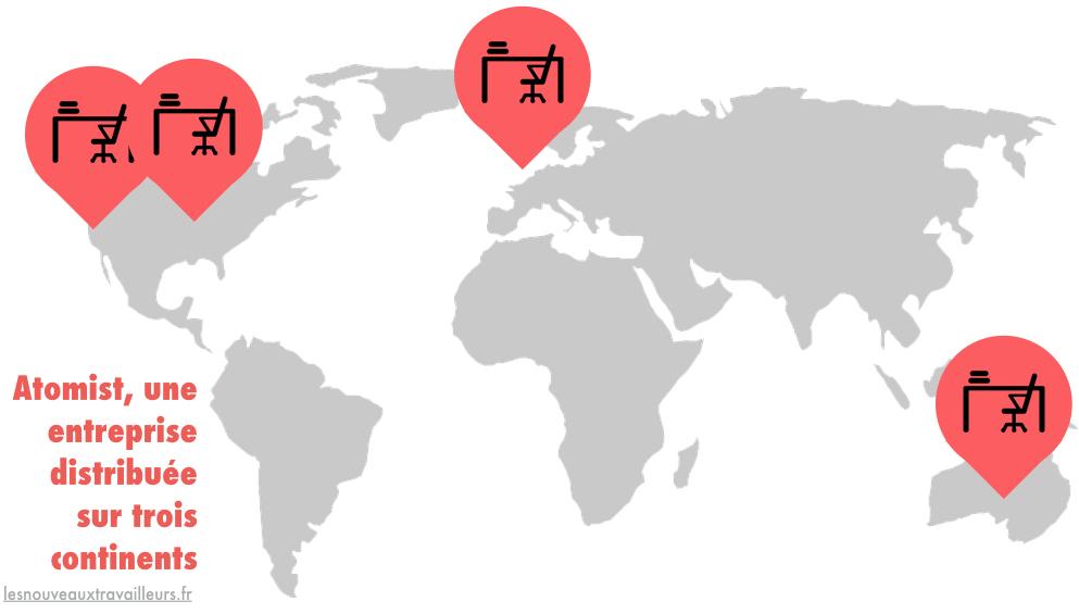 Atomist, une entreprise distribuée sur trois continents