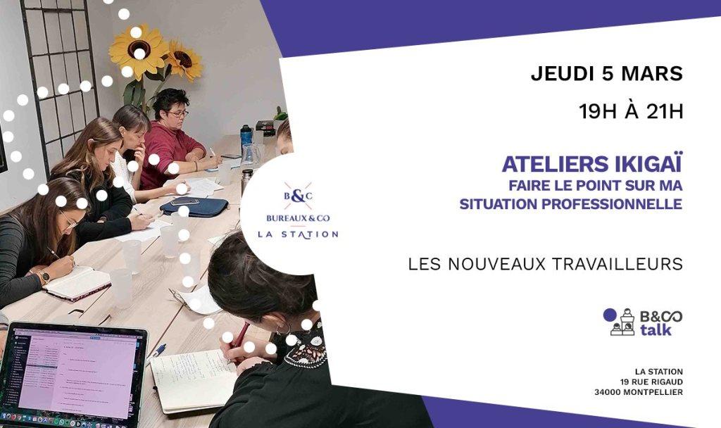 Atelier ikigaï Jeudi 05 mars 2020 : faire le point sur ma situation professionnelle