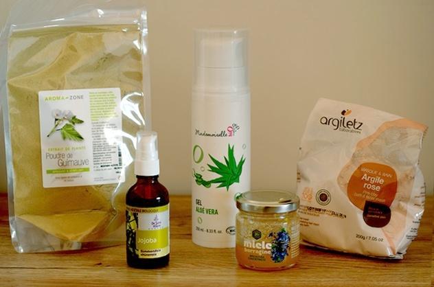 ingredients naturels masques odyssees - Masques et gommages naturels et bio à petits prix