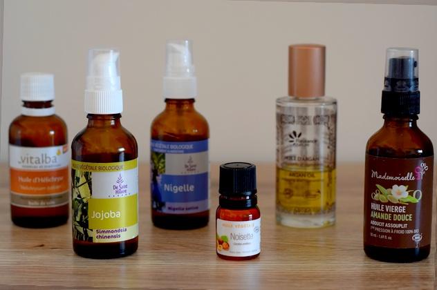 Routine naturelle biologique : huiles végétales