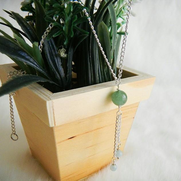 Collier Dana Modèle I Chic Energetic : bijoux de lithothérapie en pierres (Amazonite et aAventurine)