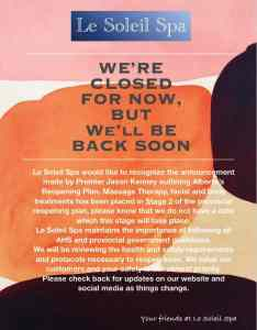 reopening announcement on painted background