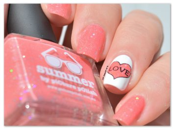 Stamping Master Corail & Blanc Picture Polish Summer (2)
