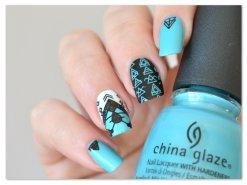 Stamping Master - Turquoise & Noir - Moyou London Minimal (2)