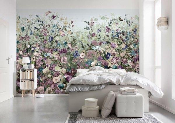 Обои для стен: фото, настенные красивые, сакура в квартире ...
