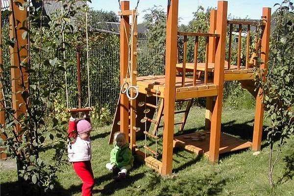 Как сделать детскую площадку самостоятельно: 70 фото ...