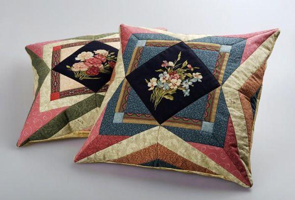 Пэчворк подушки: лоскутная техника, схемы для шитья, фото ...