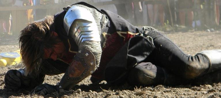 chevalier à terre personnage roman technique écriture