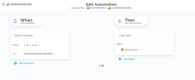 clickup automatisation lynda guillemaud