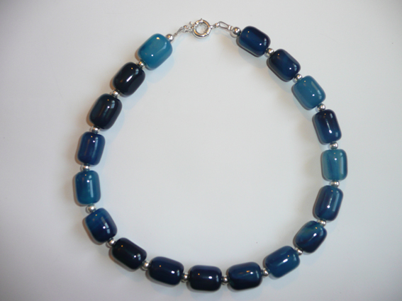BRACELET CREATION AGATE BLEUE