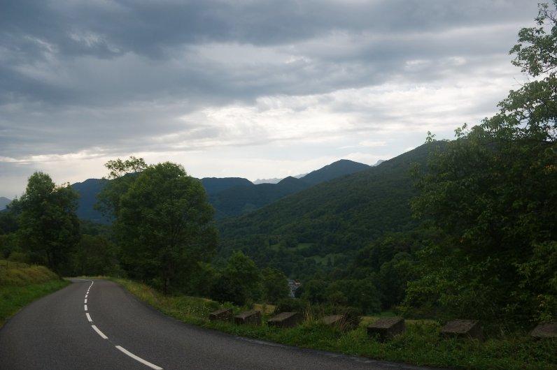 Pendant la montée du col de Portet-d'Aspet