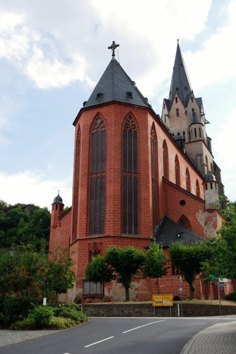 L'église rouge de Oberwesel