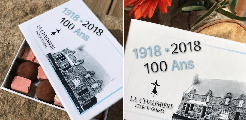La Chaumière-Perros Guirec-Boite du centenaire-Les Papotis de Thalie