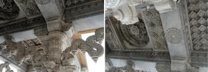 PDT-2019-Londres-Niesden Temple-Plafonds-Les Papotis de Thalie