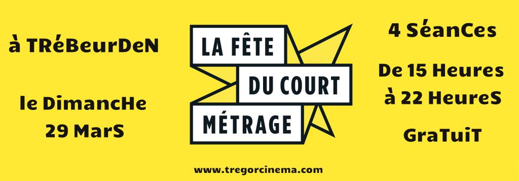 Bandeau jaune Fete du court-metrage Trebeurden