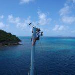 Patrick en haut du mât