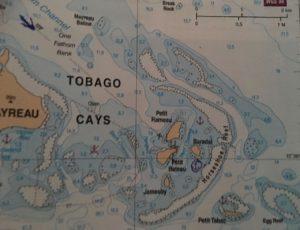 Carte des Tobago Cays