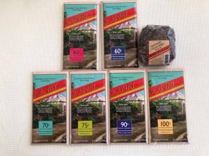 Différentes tablettes de chocolat