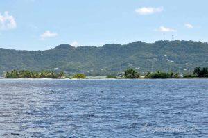 Sandy Island vu de la mer des Caraibes
