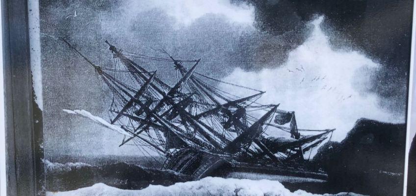 Navire négrier pris dans la tempête