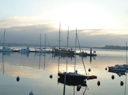 Coucher de soleil dans la baie de Lorient