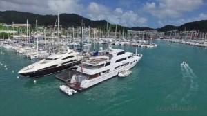 Marina du Marin Ponton pour yacht