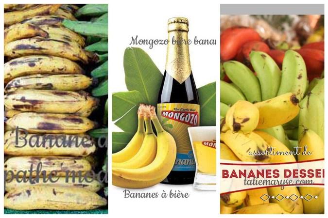 3 Sortes de bananes