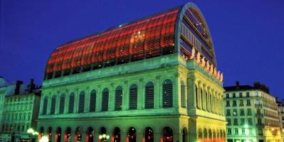 Opéra de Lyon de nuit