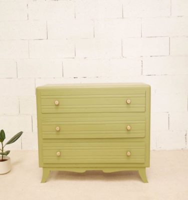 commode vintage kaki