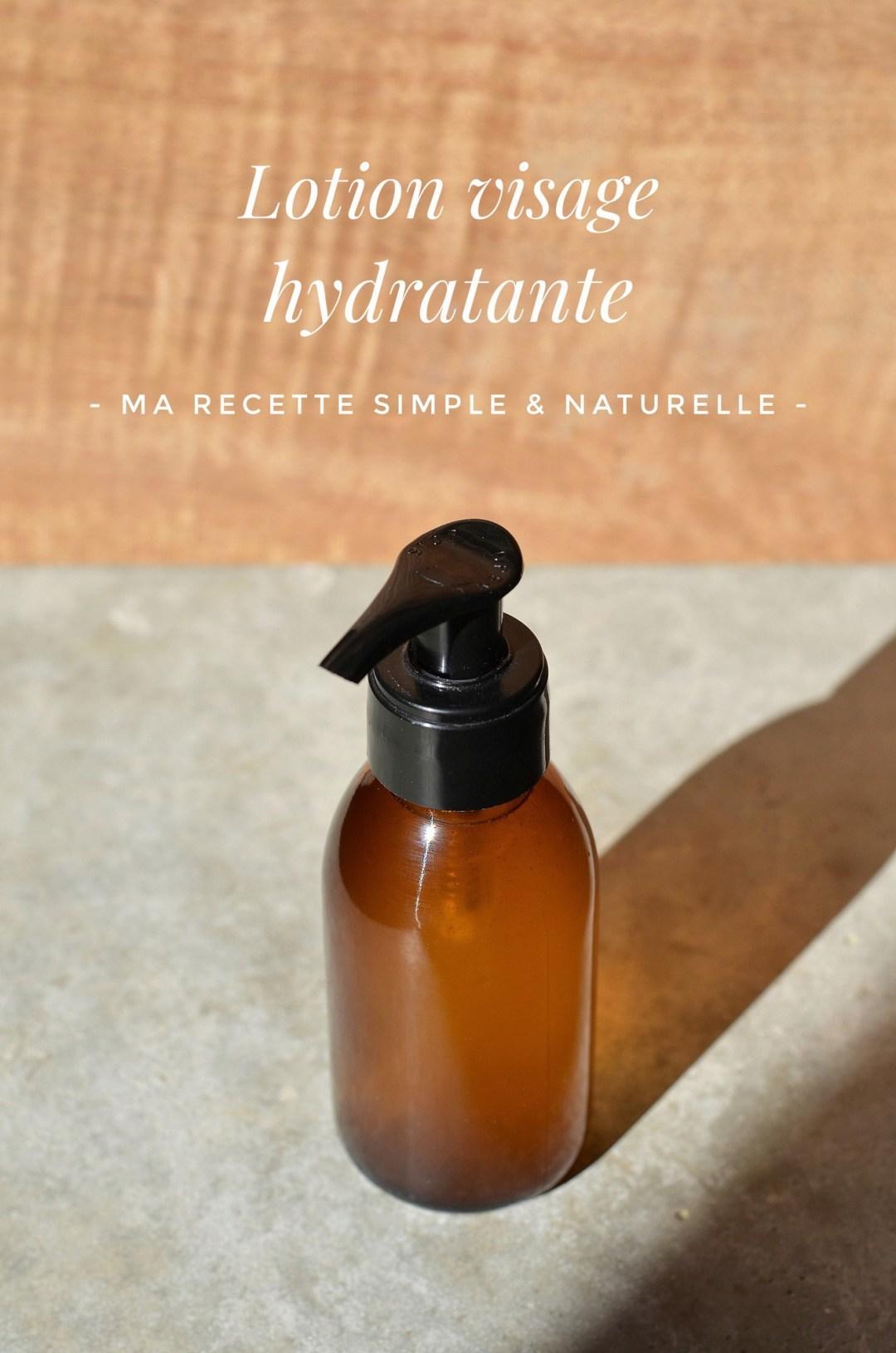 lotion visage hydratante - ma recette simple et naturelle