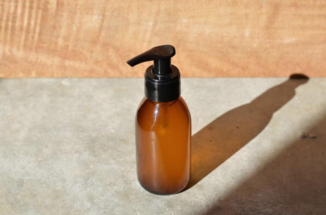 flacon de lotion visage