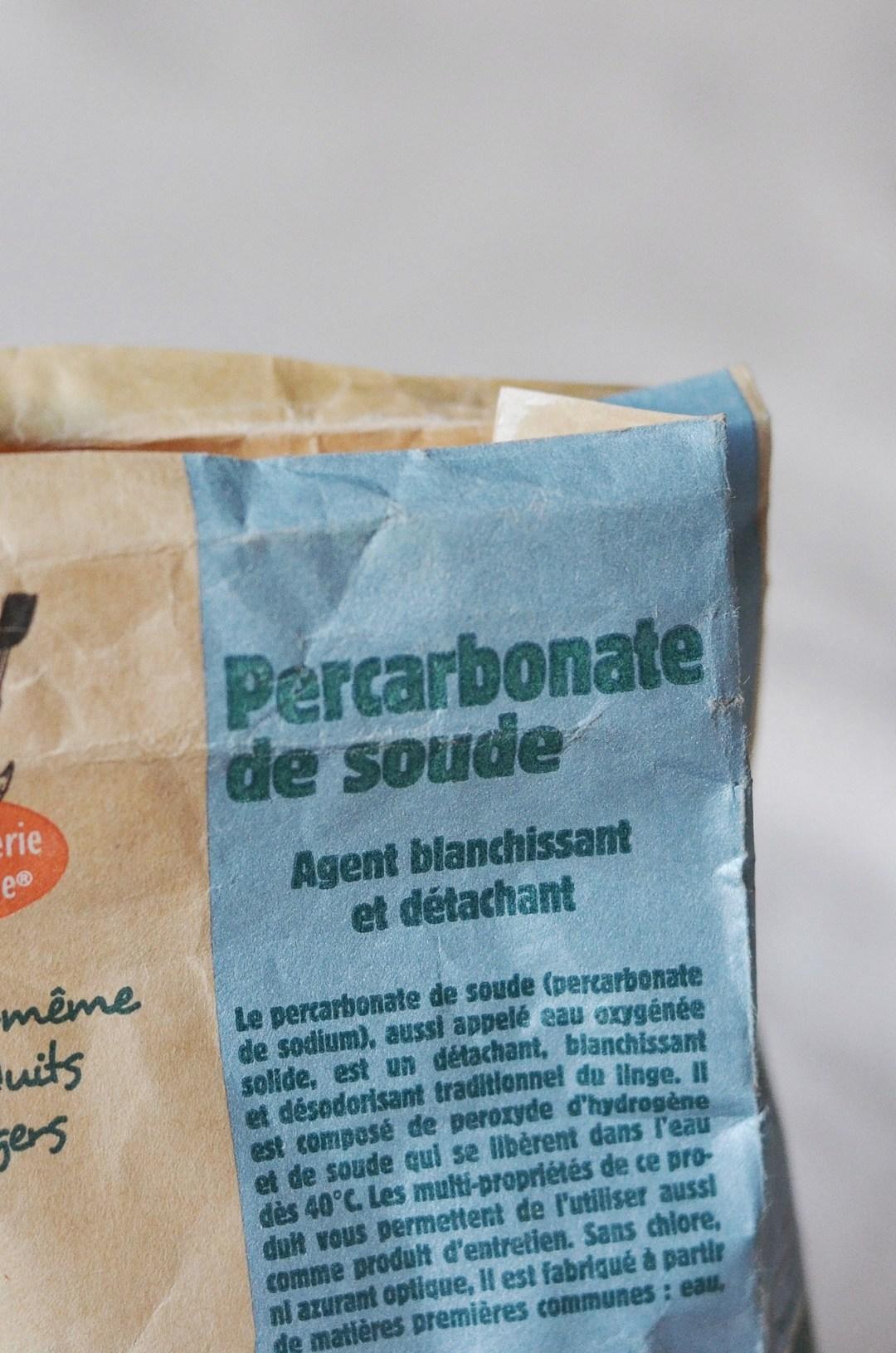 paquet de percarbonate de soude