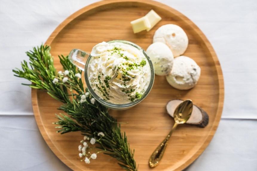 matcha latte chocolat blanc