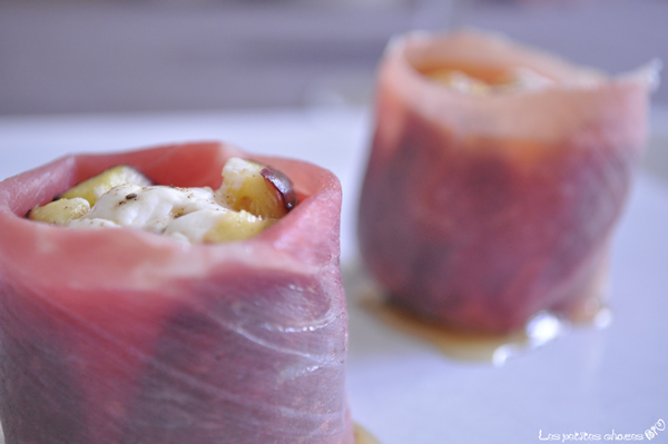 Figues au chèvre frais et jambon de parme