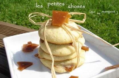 Cookies moelleux aux éclats de caramel au beurre salé