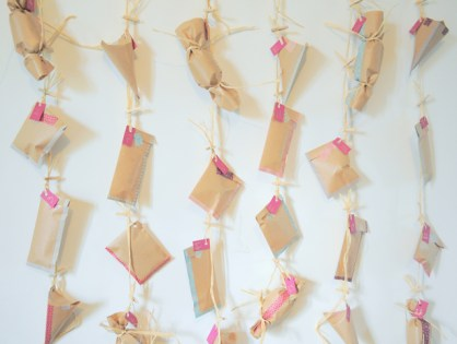 Calendrier de l'avent  de récup' et masking tape (DIY)