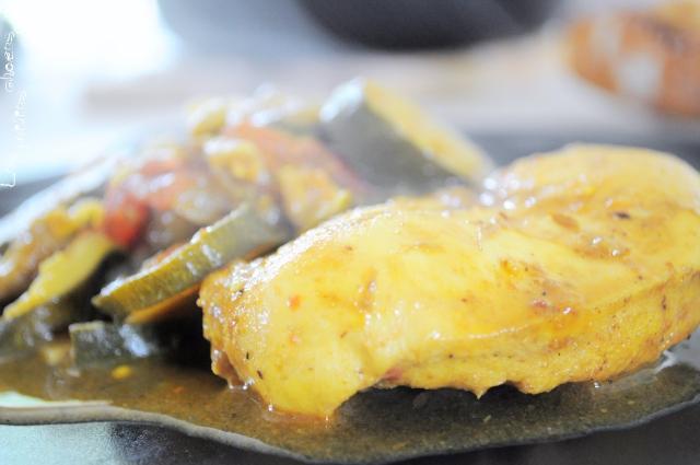 Curry léger de poulet aux légumes d'été