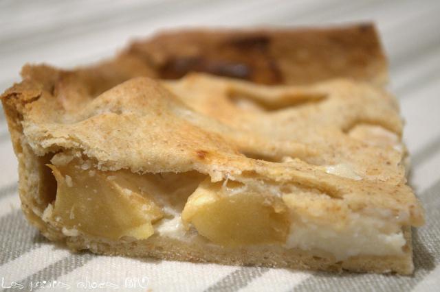 Tarte aux pommes et yaourt au lait de brebis (sans oeufs)