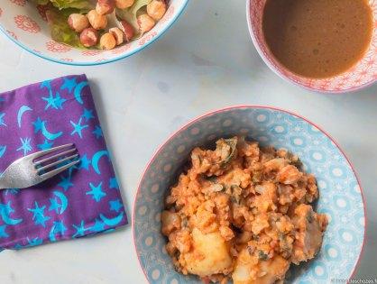 Curry de chou fleur et de pommes de terre