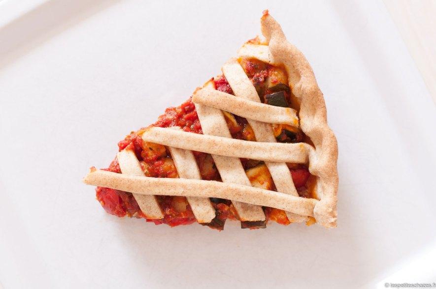 Tarte provençale courgette et poivron - Recette végétarienne - Les petites chozes