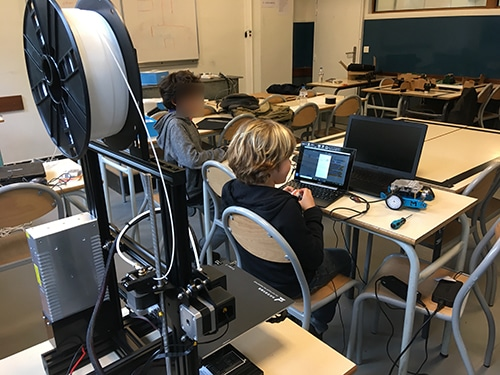 imprimante 3D Ender 3 atelier enfant