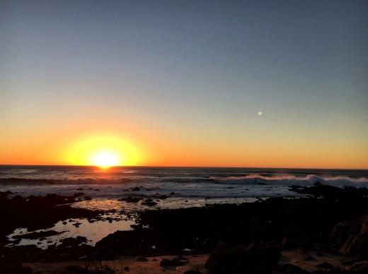 Carmel, le coucher de soleil magique