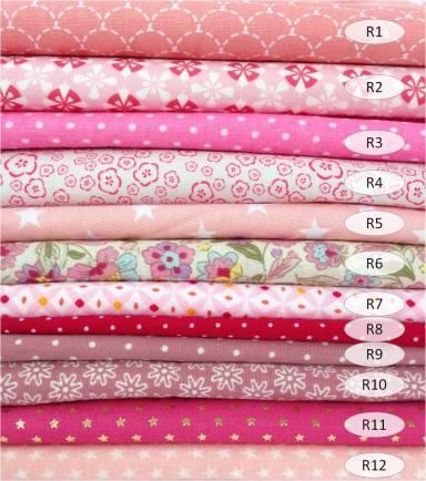 collection coton imprimés rose - 100% coton