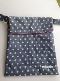 sac à poussette en toile enduite - indispensable sur toutes les poussettes - APPRENDRE A POSER UN PASSEPOIL, MONTER UN RABAT, UNE DOUBLURE AVEC DES POCHES